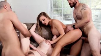 Neighborhood MILFs Tease Hubby%27s to Swingers Orgy- DevilsFilm