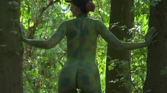 invisible nakedness in the city. full body art with nude by jeny smith