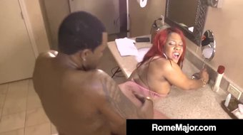 Black Cock Rome Major Bang Ebony Hottie Gemini Lovell!