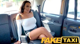 Fake Taxi sexy brunette with big boobs and shes a squirter