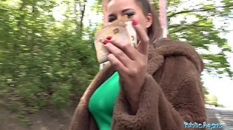 Public Agent Anna Polina gets her perfect boobs out for a fucking